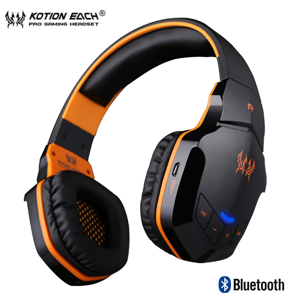 B3505 Wireless Bluetooth 4. 1 Stereo Gaming Headphones Earphones Gamer Headset with microphone HiFi Music Helmet for iphone game image