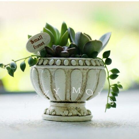 Silica gel silikonové formy planter 3d váza formy evropský styl hrnce muti-maso hrnce formy pro domácí dekorace