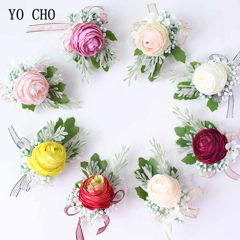 Detail Feedback Questions About Yo Cho Wrist Corsage Silk Flower