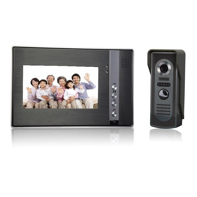 (1 Set) Door Intercom System One To One Video Door Phone 7 Inch Display Door Access Control Intercom Telephone