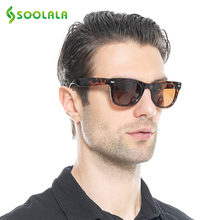 SOOLALA Sunglasses Polarized Folding Sunglasses Driving TR90