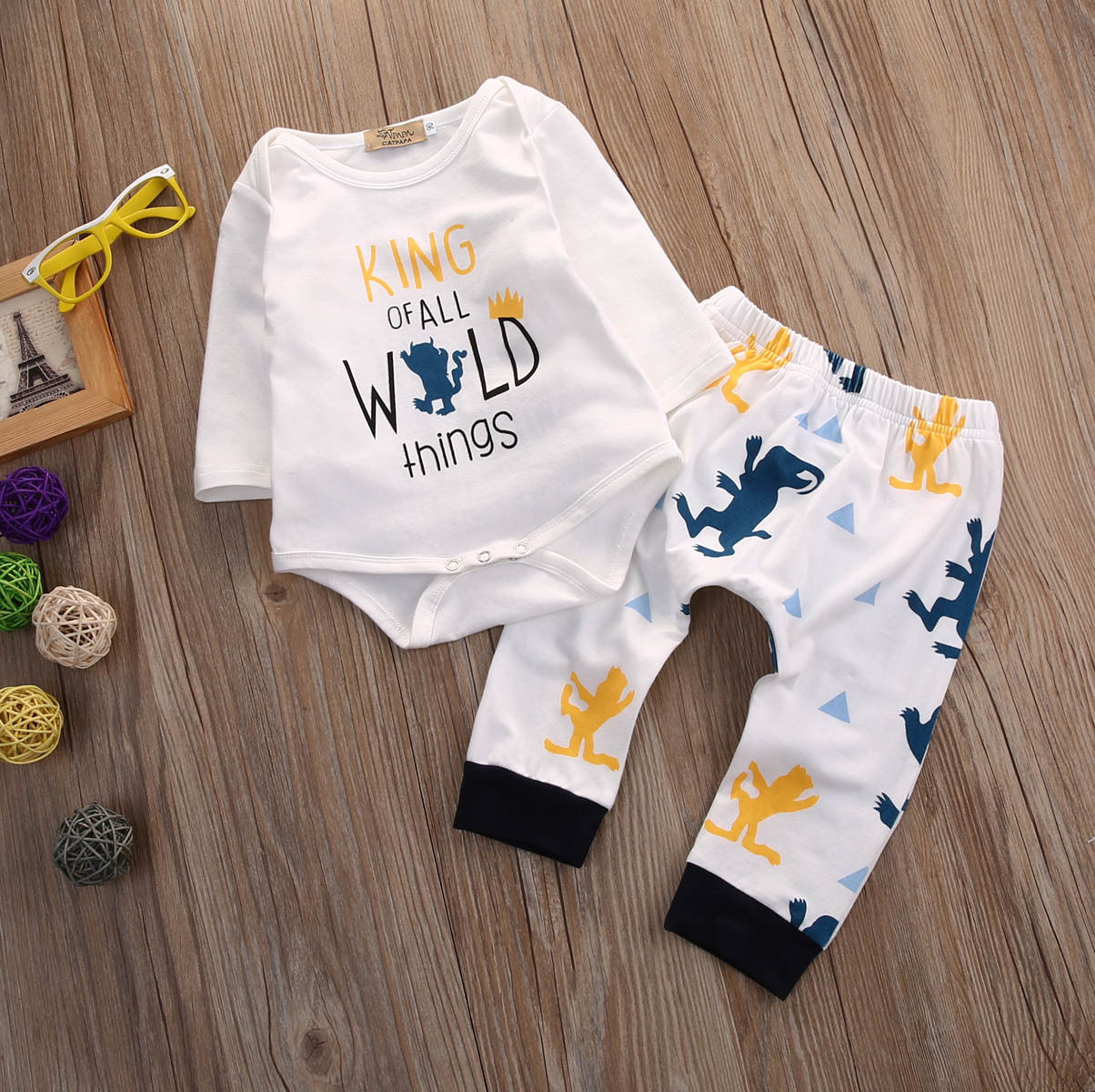 Newborn Baby Boy Clothing Long Sleeve Top Pants Leggings Outfits Ems Adjustable Headband Army Camo For Earmuff Set