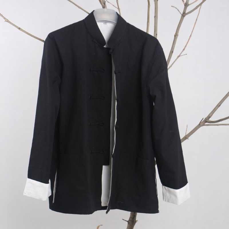 繁体字中国語ジャケット伝統的なマンダリンカラー唐ジャケットマンダリン襟スーツ男性服 2018 TA257