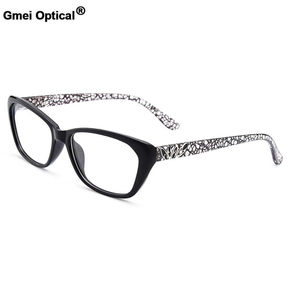 Gmei Optical Women's Trendy Ultralight TR90 Full Rim Optical Eyeglasses Frames With Print Design Girl's Pretty Frame M1550