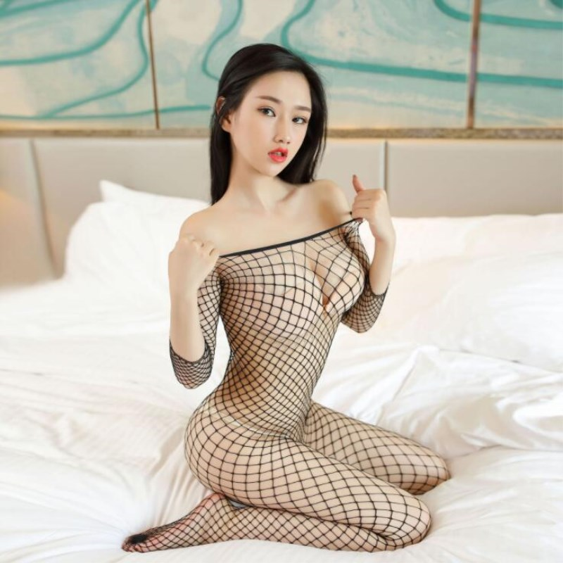 Fishnet Teddy Bodysuits <font><b>catsuit</b></font> <font><b>Sexy</b></font> Lingerie Women Erotic Underwear Bodystockings Baby Doll Intimates Mesh Body <font><b>Sexy</b></font> Stockings image