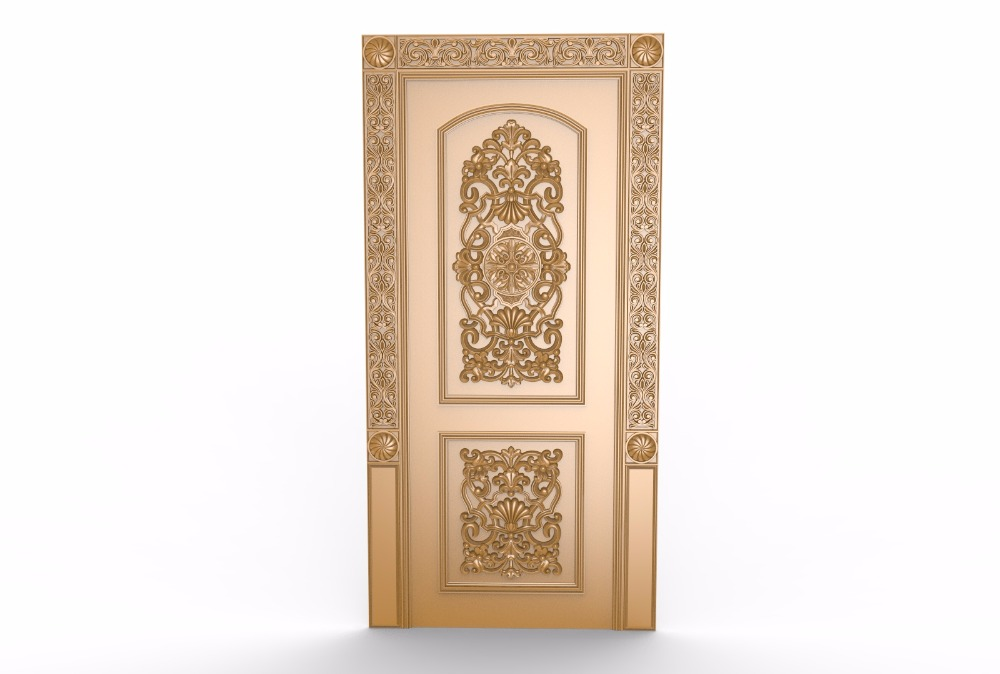 Cnc 3d Model In STL Format File Relief Cnc Carving Engraving Door A120