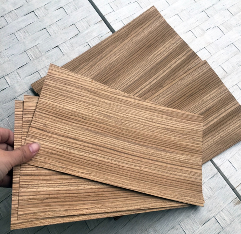 4Pieces/Lot. (about 16x27cm )Thickness:0.5mm  Natural Zebra Vertical Pure Wood Chips DIY Table Tennis Racket Veneer