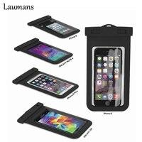 Laumans 2 unids Sellado A Prueba de agua Bolsa de La Caja DEL PVC Fundas para iPhone 6/6 Plus/5S Samsung Galaxy S6/S5/S4 Samsung Nota La Mayoría de Los Teléfonos