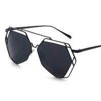 Polygon Women Sunglasses Super Lovers Designer Mirrored Brand New Female Glasses Oculos De Sol Retro Vintage