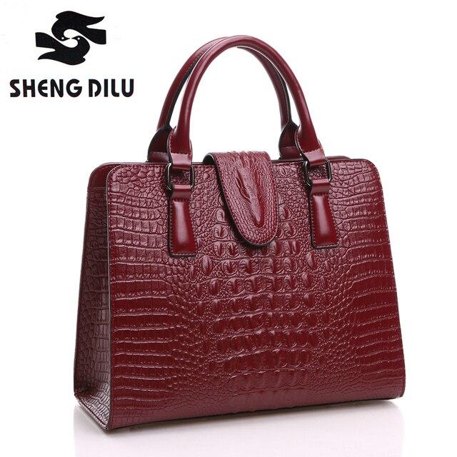 Shengdilu Designer Handbags High Quality Genuine Leather Bag Famous Brand Shoulder Bags 2017 Luxury Women Hand