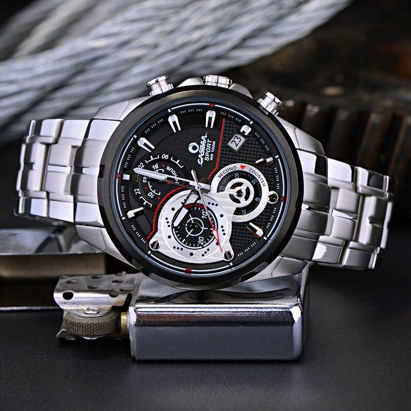 Lüks Marka İdman Kişi Saatı Kvars Saatı Təsadüfi - Kişi saatları - Fotoqrafiya 2
