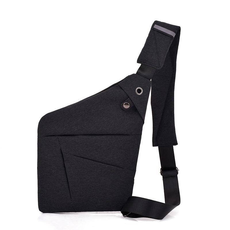 Multi Pocket Chest Bag for Male Messenger Bag Men Anti-theft Sling Men Bag Business Chest Pack Unisex with Headset Interface anti theft dslr camera sling chest bag red