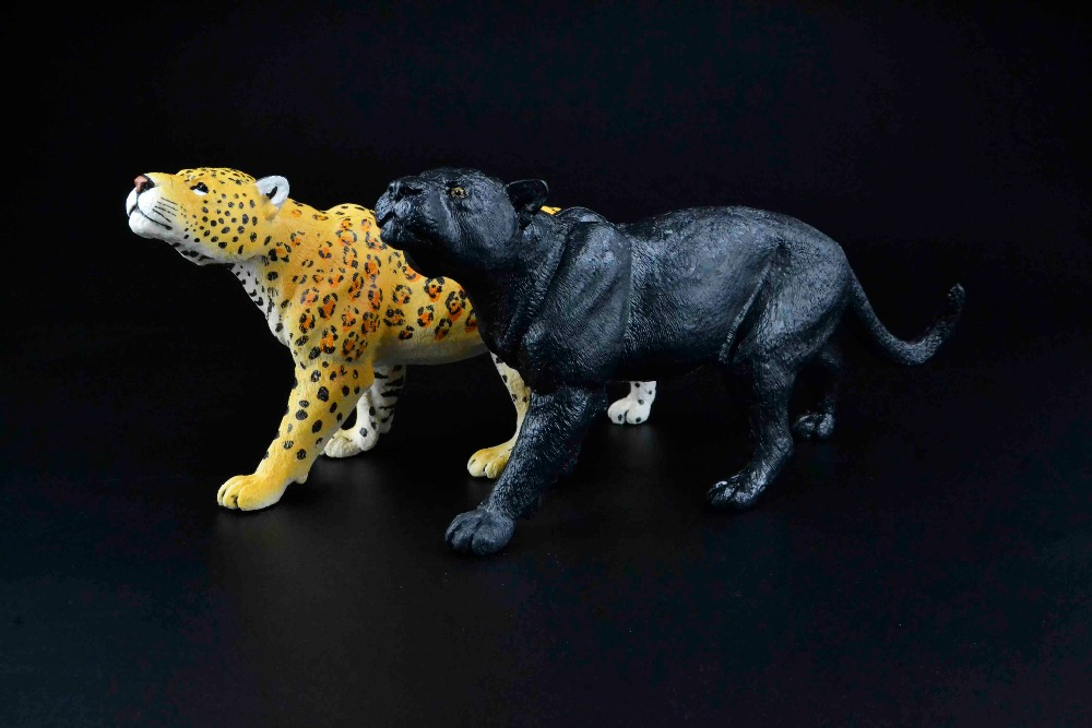 Genuine jungle zoo wild animals 24cm big black panther Jaguar figure collectible figurine kids toy gift office home decoration mr froger carcharodon megalodon model giant tooth shark sphyrna aquatic creatures wild animals zoo modeling plastic sea lift toy