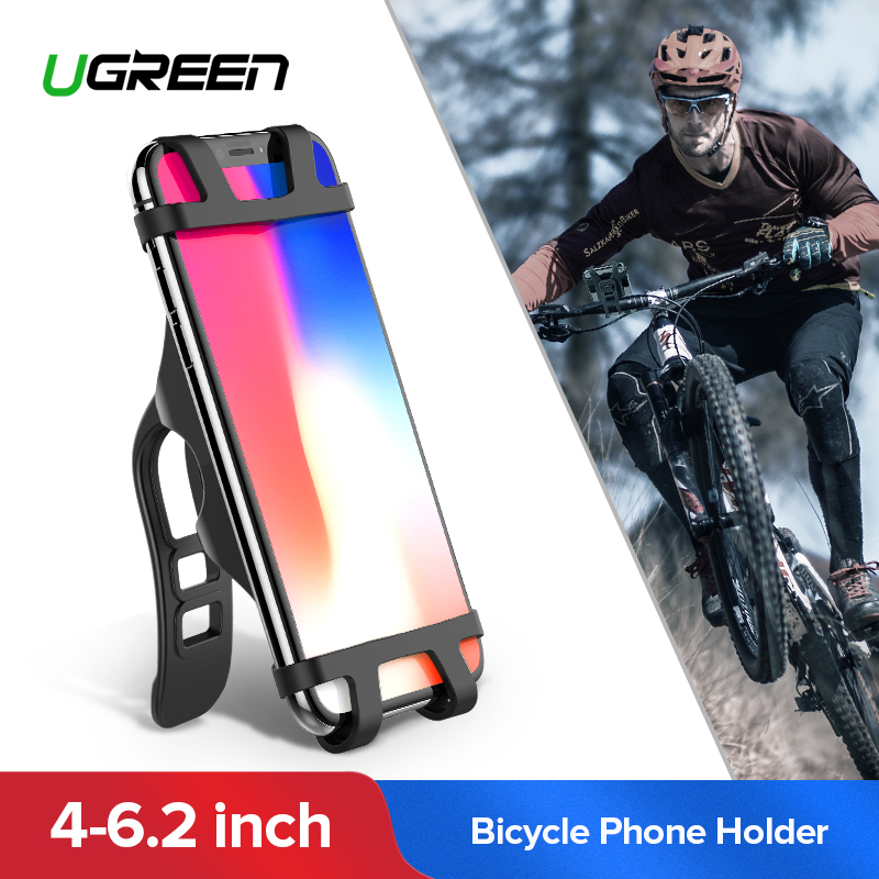 Ugreen bicicleta soporte para teléfono para iPhone X S X 8 teléfono celular titular de la bicicleta del manillar del soporte de teléfono para Samsung del teléfono de la bicicleta soporte de montaje