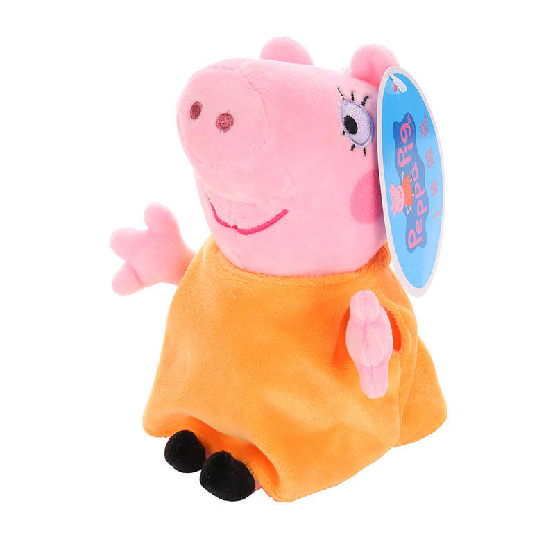 19 см оригинальная Свинка Пеппа Джордж Животные Мягкие плюшевые игрушки мультфильм семья папа мама друг Pelucia мягкие куклы игрушки детские подарки - Цвет: Mummy Pig