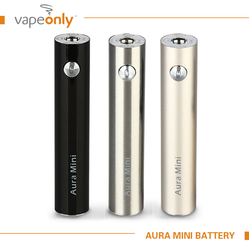 100 Original VapeOnly Aura Mini 1450mAh Battery for 510 Thread Tank Atomzier Electronic Cigarette Lithium Battery