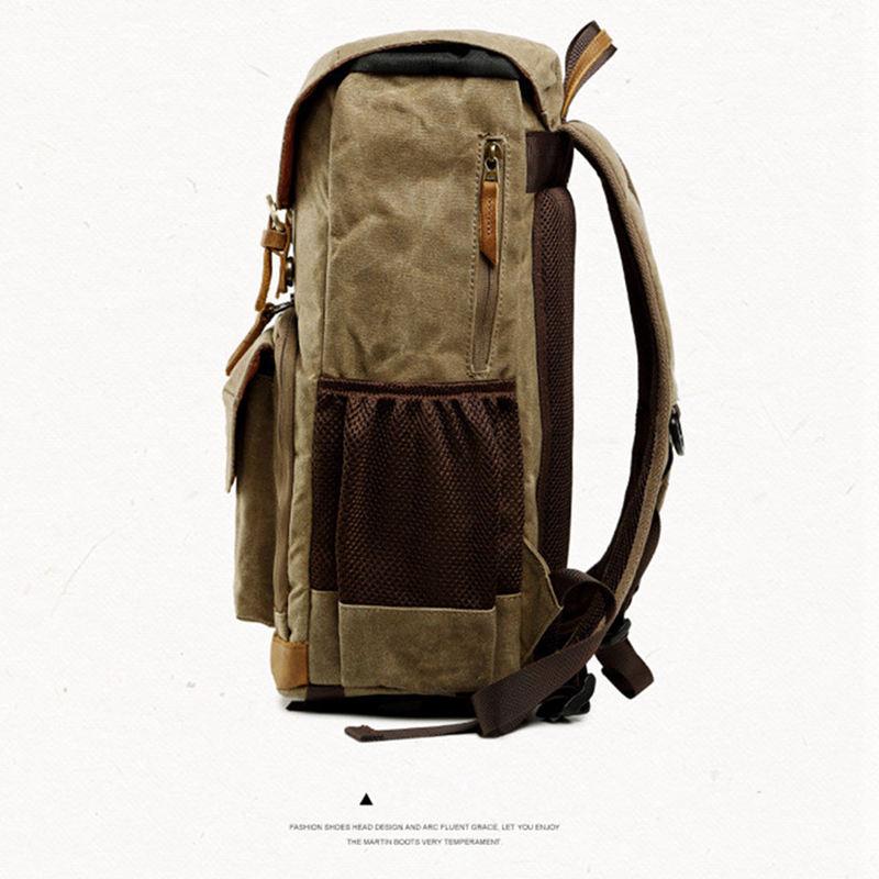 Batik toile caméra sac à dos en plein air sac étanche sac de photographie multifonctionnel pour Canon pour la plupart des sacs reflex numériques - 2