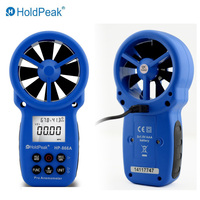 Anemometer HoldPeak HP 866A Portable USB Anemometer Wind Speed Meter Wind Logger Air Speed and Temperature Measure