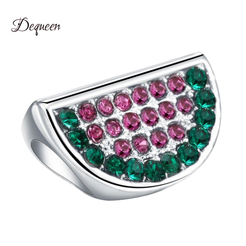 Dequeem Luxury Series 3PC Perles Crystal Watermelon Pandora Charms Beads Fits DIY Pulsera Bracelets Berloque Wholesale Beads