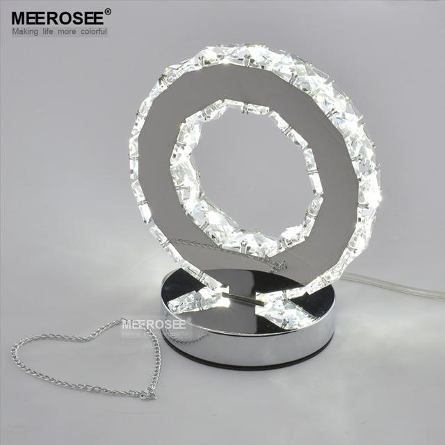 Anel De Cristal LEVOU Luz Da Tabela LIDERADA lâmpada de Leitura Luz Lâmpada de Mesa de Cabeceira Mesa de Luz