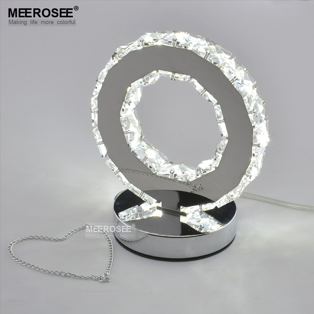 LED Crystal Ring Table Light LED Reading Light Bedside Table Light Desk Lamp