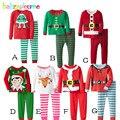 2 PCS/0-5Years/Conjuntos de Roupas de Bebê Das Meninas Dos Meninos de Natal Dos Desenhos Animados T-shirt + Calças Crianças Roupas Trajes para Crianças Agasalho BC1345