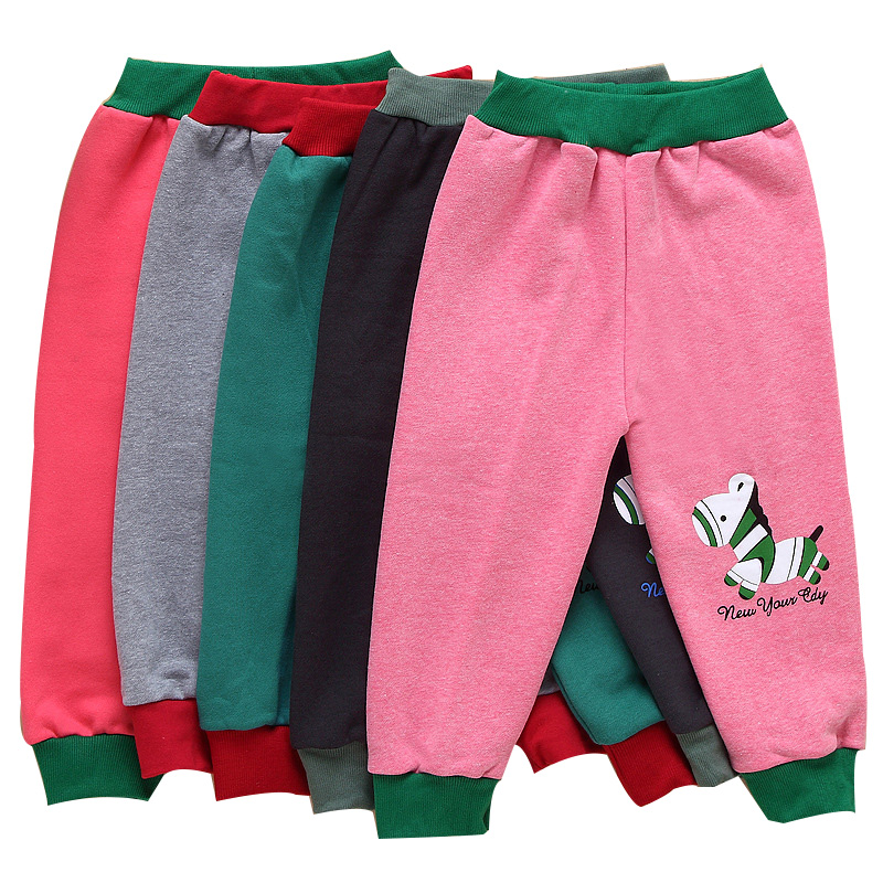2015 autumn winter warm Lovely pattern kids pants Boys Girls casual pants 5 style sports trousers pants 1-3 year baby pants