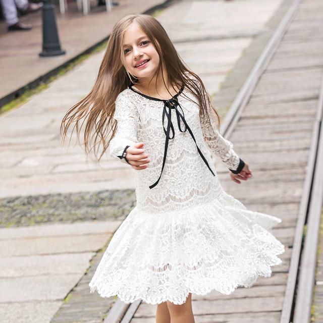 Девушек, Платья Весна Лето детская Одежда Детские Платья С Длинными Рукавами Принцесса Стиль Праздник Свадьбу