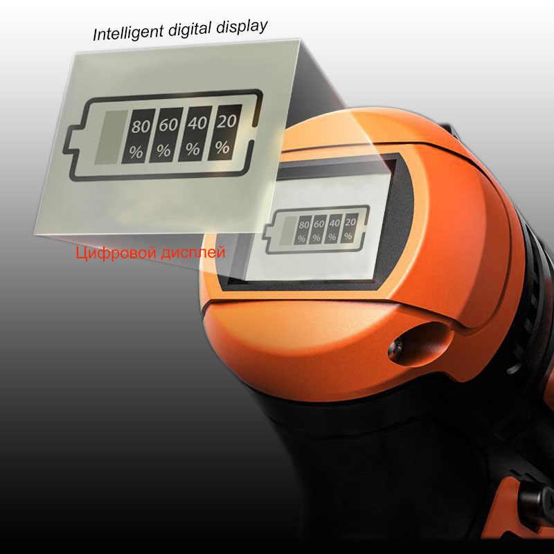 21 v ドライバーコードレス電動ドリルミニワイヤレス電源ドリルリチウムイオン電池ドライバー工具 3/8-でチャック