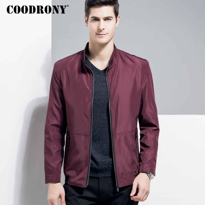 COODRONY Stand Collar Jacket Men Business Casual Brand Clothes 2018 Autumn Winter Mens Jackets And Coats With Zipper Pocket 8810