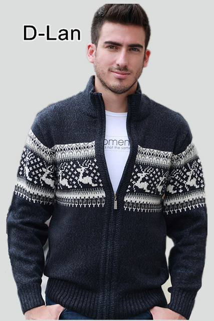38776053e13d9b DEER men knitwear pull mens cardigan sweater christmas sweater mens thick  long sleeve top long cardigan men