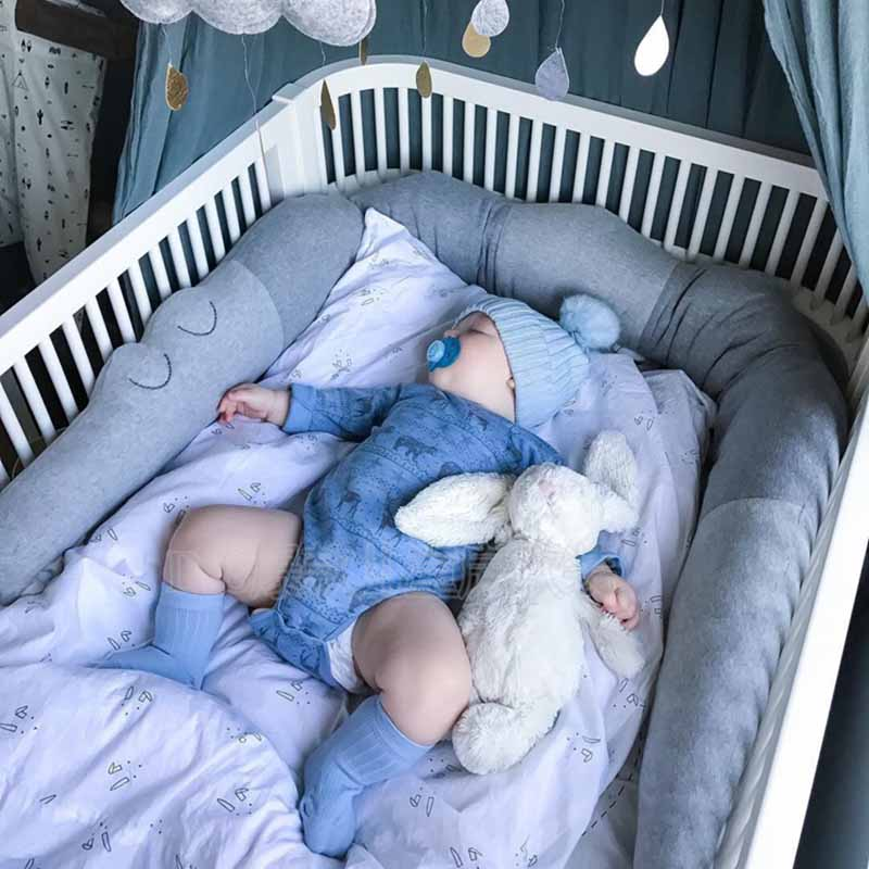 185CM Crocodile Baby Bed Bumper Newborn Baby Room Decor Crib Sides Infant Cotton Cot Accessories Pillow Kids Crib Protector Toys