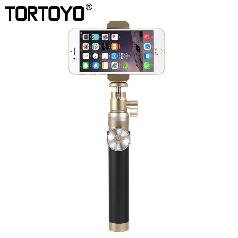 TORTOYO de alta calidad inalámbrico Bluetooth teléfono Selfie Stick Control Remoto + trípode fotografía monopie + lente de ojo de pez para teléfono inteligente-in palos de selfie from Productos electrónicos    1