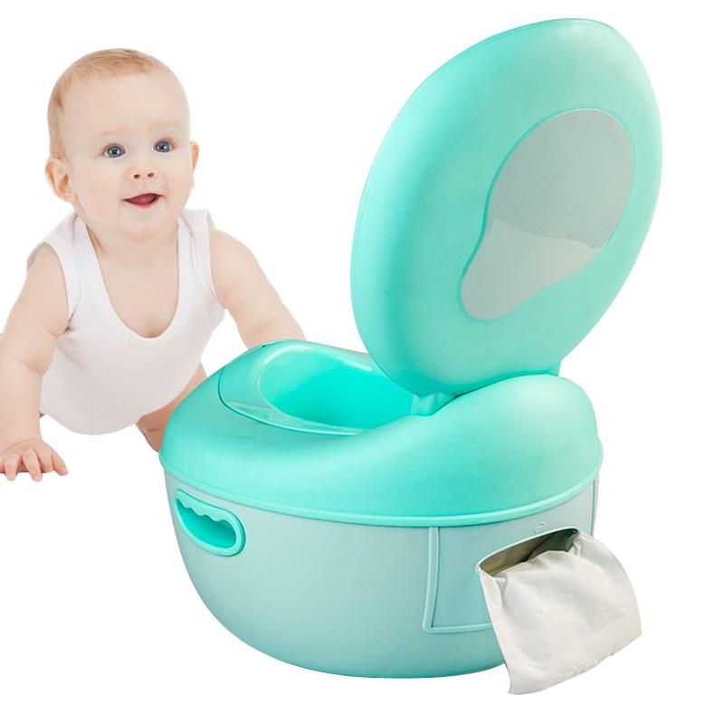 Baby Toilet Cartoon Cute Plastic Baby Child Pot Toilet Seat Training Girl Boy Children's Potty Travel Portable Child Toilet Seat