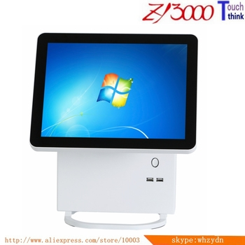 New Stock metal case I5 4200U 4g ram 64G SSD double 15inch capacitance mulit Touch screen All In One Pos Terminal