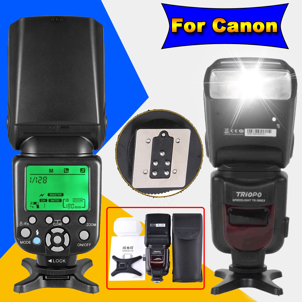 TRIOPO TR-586EX  Wireless TTL Speedlite Flash Speedlight For Canon 6D 5D2 5D3 1200D DSLR Camera As Yongnuo YN565EXII YN-568EX II triopo wireless ttl flash speedlite speedlight tr 586ex c for canon eos 5d mark ii 6d 1200d dslr camera as yongnuo yn 568ex ii