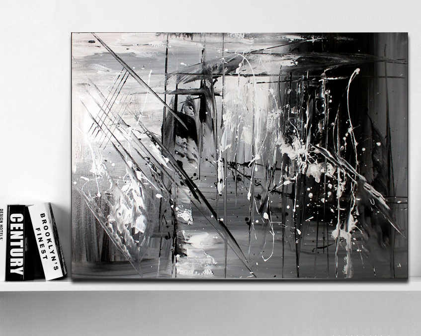 Wonderlijk Handgeschilderde Originele abstracte moderne kunst Hedendaagse ZN-55