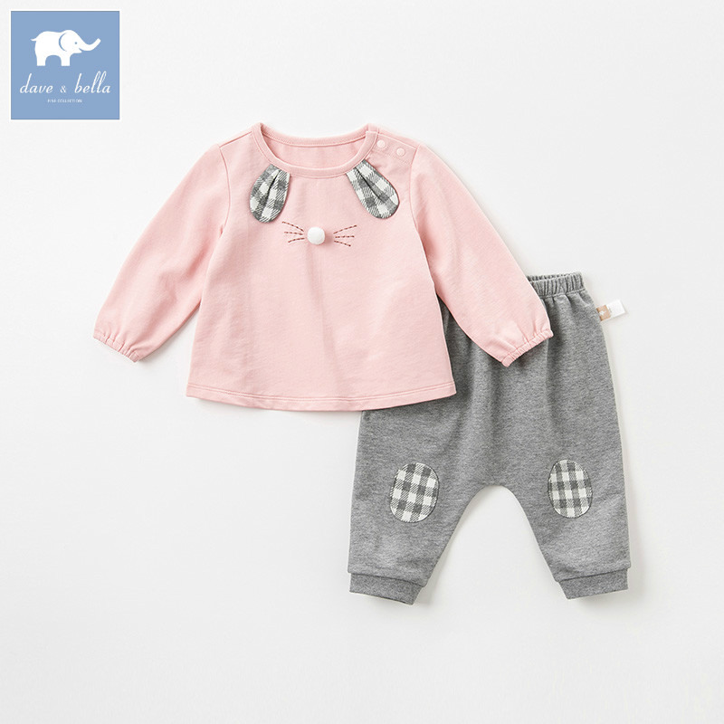 DBM8178 dave bella autumn infant toddler baby girls fashion lovely clothes kids long sleeve clothing sets children 2 pcs suitDBM8178 dave bella autumn infant toddler baby girls fashion lovely clothes kids long sleeve clothing sets children 2 pcs suit