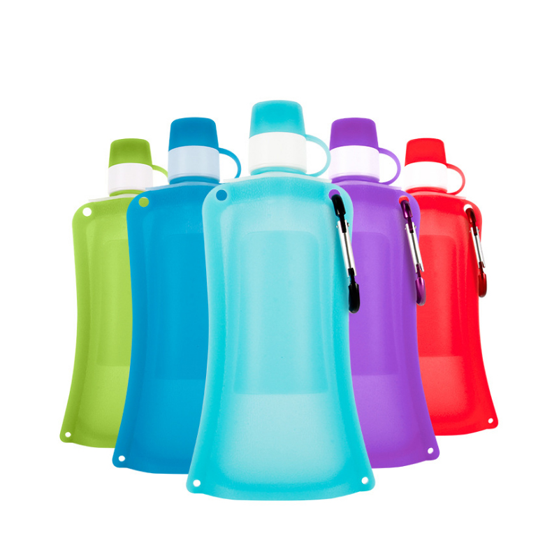 Creative Travel Outdoor Water Bottles Portable Dog Cat: 500ML Large Capacity Food Grade Silicone Foldable Water