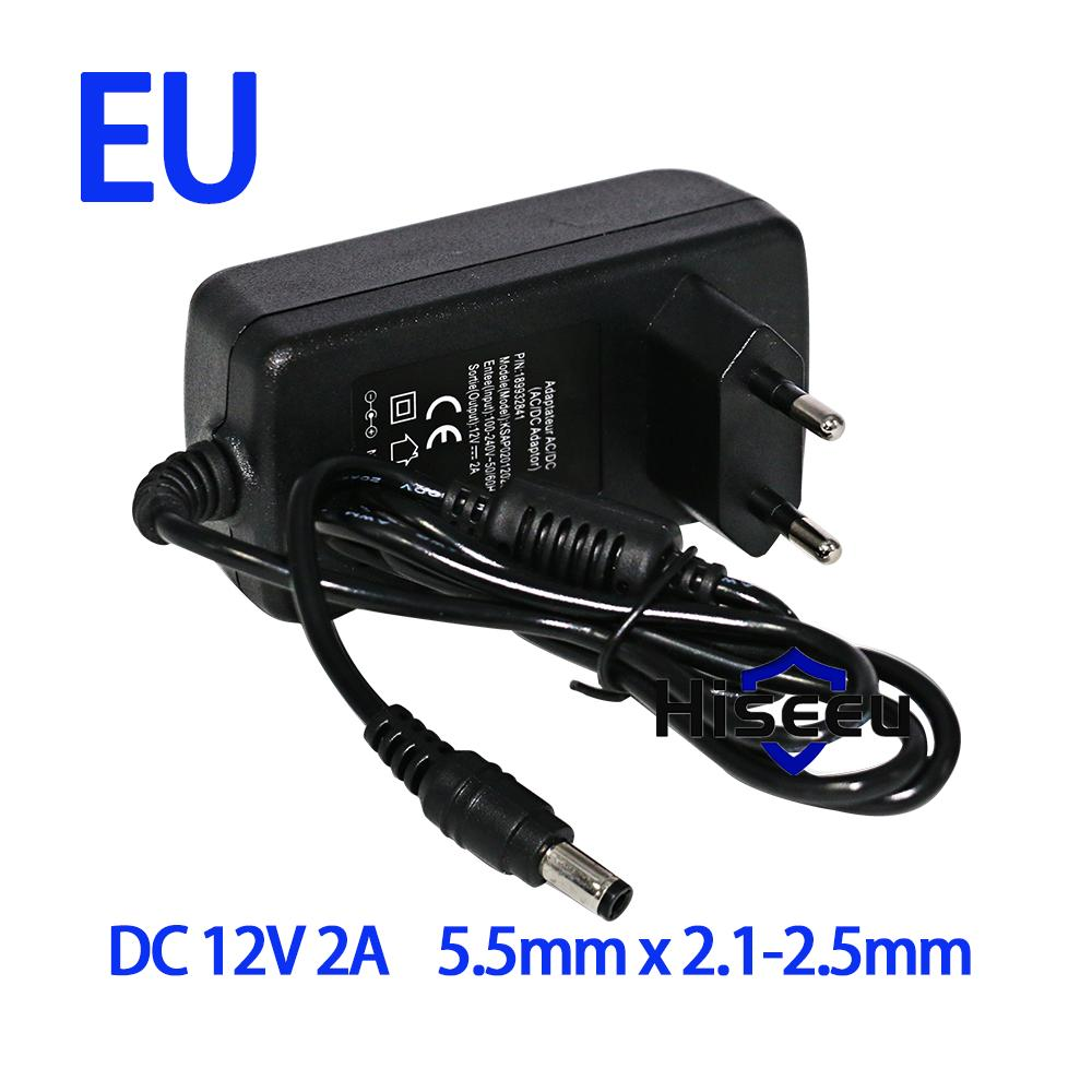 AC 100-240V to DC 12V 2A Switch Switching Power Supply Converter Adapter EU UK US AU 5.5mm*2.5mm Plug Free Shipping 100pcs us eu uk au plug ac line 1 5m dc line 1 2m ac100 240v to dc 24v 1a 24w power adapter 24v1a ac adapter