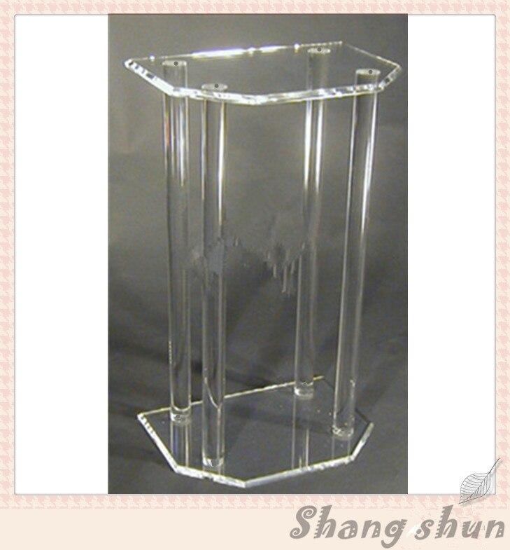 Customized Clear Acrylic Church Pulpit / Transparent Plexiglass Podium Pulpit Lectern Modern Lectern Podium hot sale fre shiping customized acrylic church lectern pulpit lectern podium cheap church podium