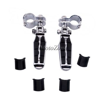 """1-1/4"""" 1.25'' Motorcycle Highway Crash Bar Foot pegs Rest Clamps Engine Guard Mounts Kit Suit For Harley Touring Suzuki ATV"""