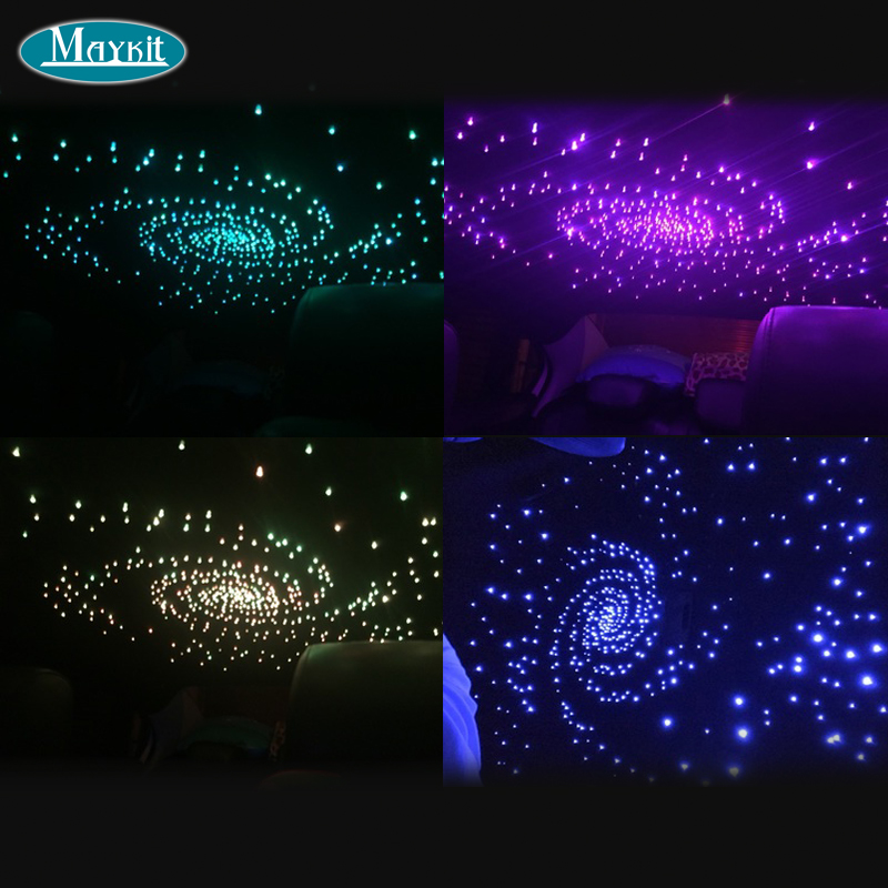 Maykit Business Automobile Fiber Optics Starry Ceiling On Cars Or Vans Roof With 200 Point 0.75mm Optical Fiber Rgbw Led Project-in Optic Fiber Lights from Lights & Lighting    2