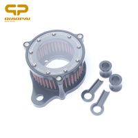 Air filter Motorcycle Modified CNC Aluminum Vintage Air Intake Filter Cleaner For Harley Sportste 883 1200 X48 Filtre a Air Moto