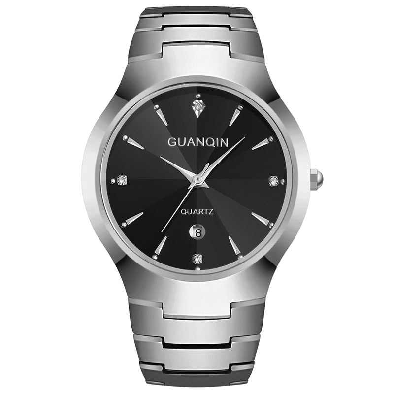 GUANQIN GQ30018 calendar fashion men watch causal relogio feminino quartz watches gold silver waterproof Tungsten Steel guanqin quartz watches fashion watch women dress relogio feminino waterproof tungsten steel gold bracelet watches relojes mujer