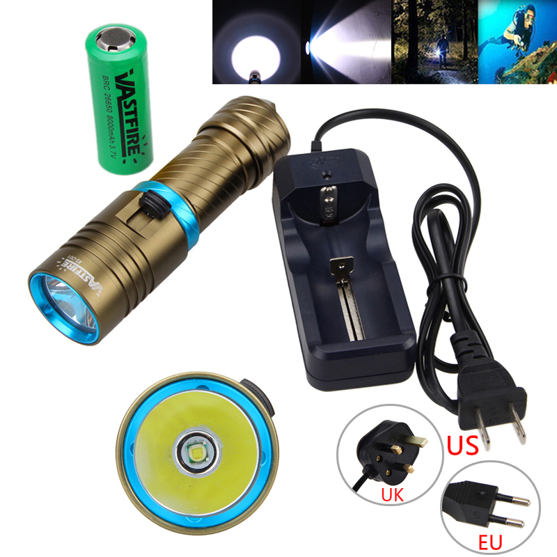 Waterproof 10000LM T6 LED Diving Scuba Flashlights