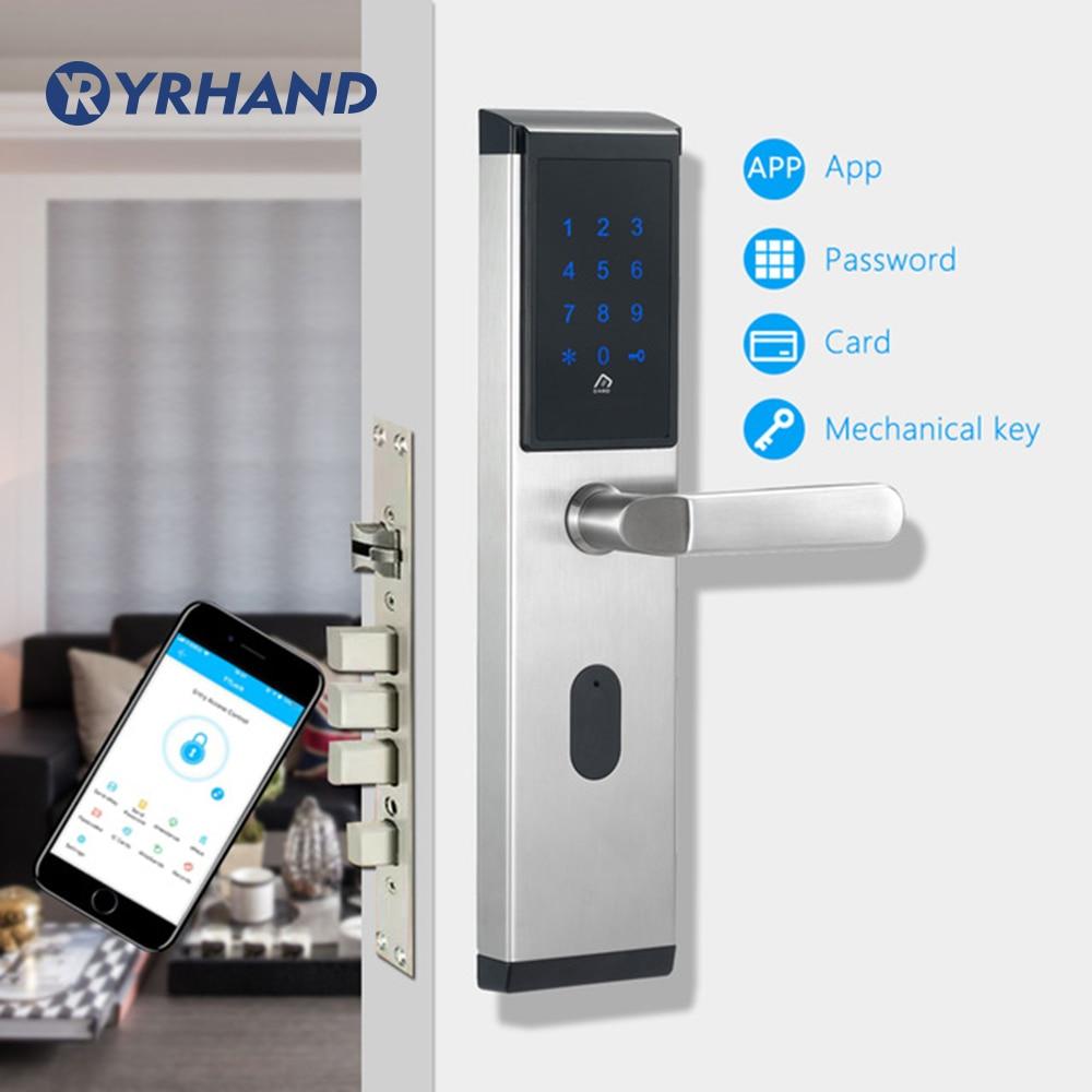 TTlock app WiFi Digital Electronic Smart Door Lock , Smart Home  Intelligent Bluetooth keypad Password Door Lock