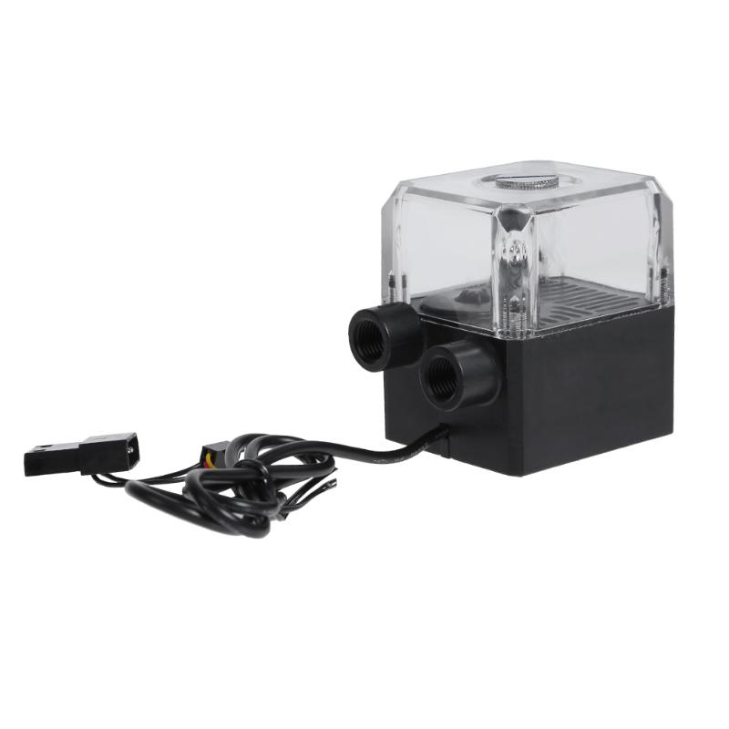 130ml Water Tank SC-450 300L/h G1/4 Thread 12V DC 1.2A Silent Computer Water Cooling Circulating Pump for PC Water Cooling