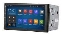 Universal Quad core Android 4.4.4 cable ISO 1024*600 del GPS del coche jugador 2DIN 7 pulgadas mapa gratuito de la Pantalla Táctil de radio de MICRÓFONO incorporado SIN DVD