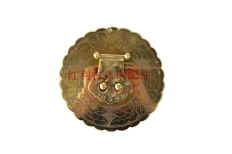 ФОТО [bonus] antique copper / copper fittings of classical Chinese furniture / Zhangmu box buckle /13cm